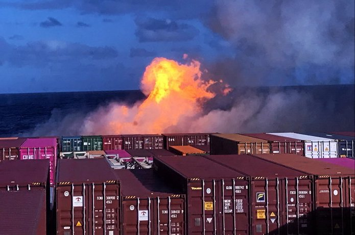 Shisha sends Hapag-Lloyd boxship up in smoke