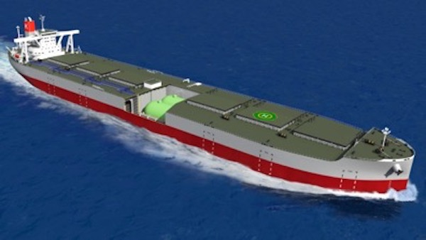 K Line debuts new ore carrier design