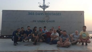 Photo of Handymax crew detained in Iraq for a year
