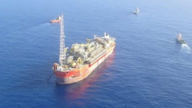 Photo of BW Offshore almost ready to tow fire-wrecked FPSO