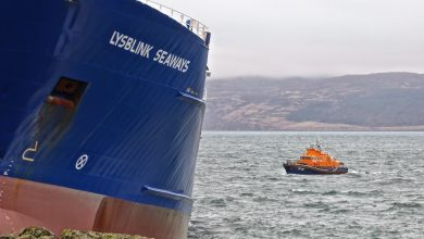Photo of Grounded Lysblink Seaways was driven by drink