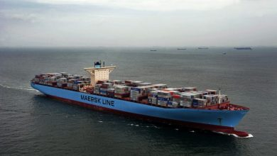 Photo of Maersk containership refloated after running aground