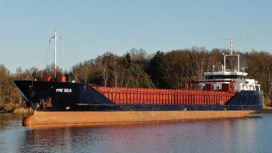 Photo of Norwegian vessel runs aground in Scotland