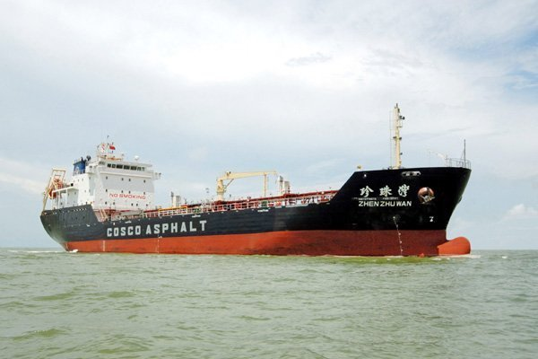 Cosco terminates asphalt carrier charter with Xin Yuan