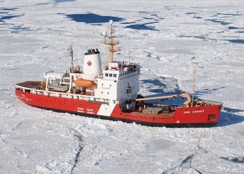 Canadian Coast Guard ship Ann Harvey runs aground after hitting rock