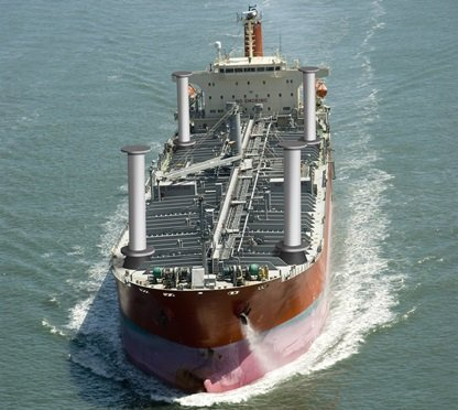 20Û Overhead view of tanker ship --- Image by © Nico Hermann/Westend61/Corbis ALL OVER PRESS