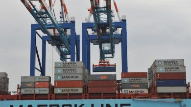 Photo of Crane operator dies as boom collapses onto boxship in Bremerhaven