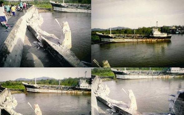 Ill-fated Moresby 9 smashes into Thai bridge