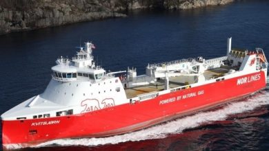 Photo of Nor Lines LNG-powered roro grounds just two months into service