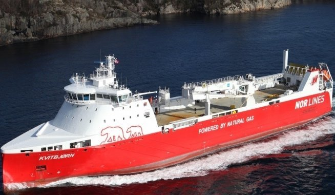 Nor Lines LNG-powered roro grounds just two months into service
