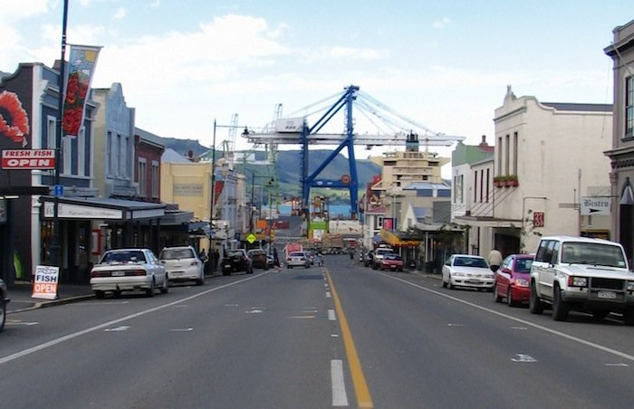 Man hospitalised as straddle carrier topples over at Port Chalmers