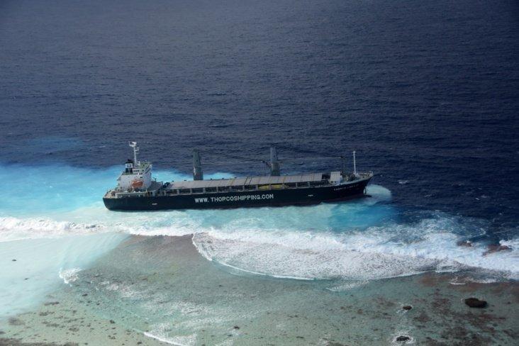Thorco ship runs aground