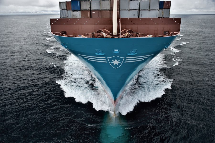 Maersk boxship docks in Bremerhaven, completing Arctic voyage