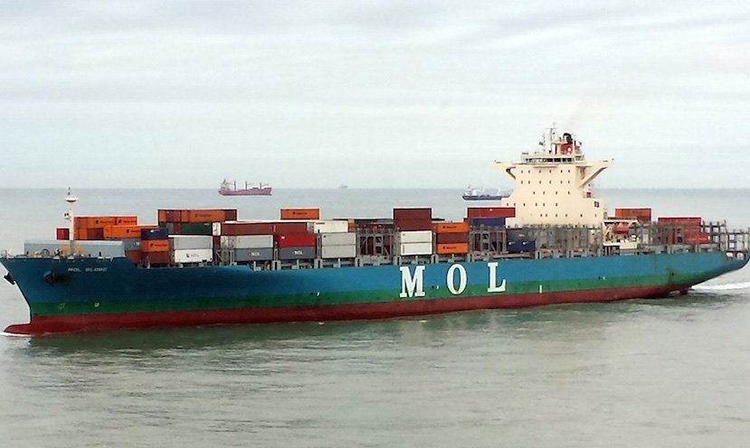Disabled MOL Prestige a few days away from port under tow