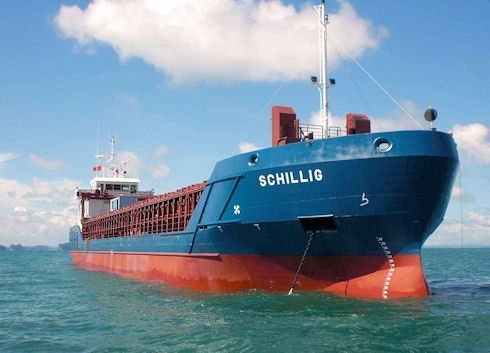 German multipurpose ship runs aground in the Dardanelles