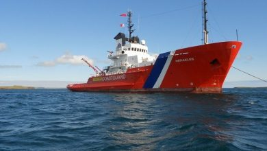 Photo of Cargo ship rescued after losing power off Orkney Islands