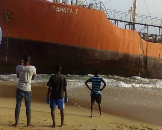 Mysterious beached tanker likely abandoned by owners