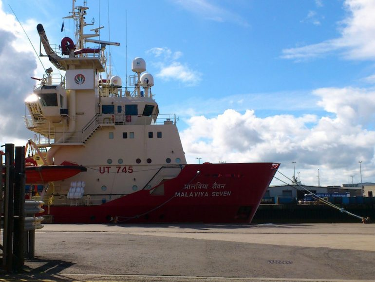 Indian OSV detained in Aberdeen likely to be sold to recover crew wages