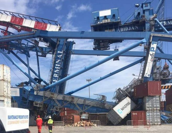 Images emerge of another crane collapse