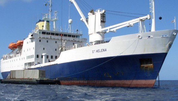 RMS St Helena becomes a floating armory