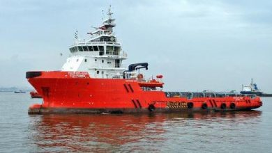 Photo of SCI anchor handler sinks off Mumbai