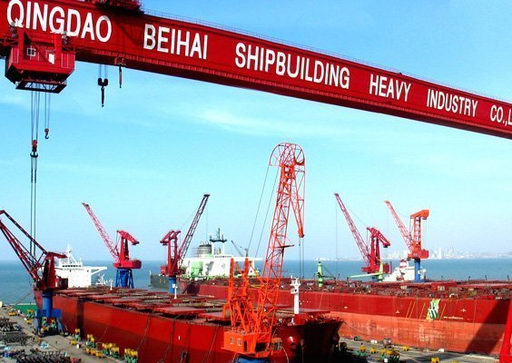 Worker dies after falling off ship at Beihai Shipbuilding