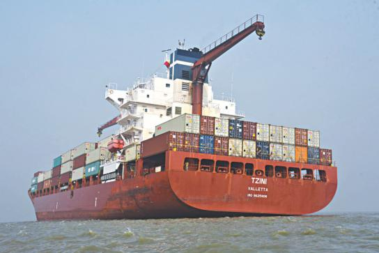 Handymax containership runs aground at Chittagong Port