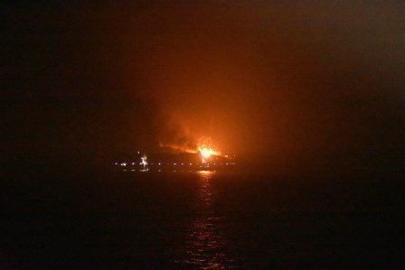 Serious fire rips through new Maersk 15,000 teu ship, four missing