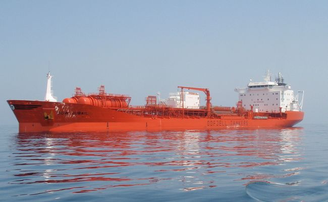 Odfjell tanker spills fuel after hitting pier at Port of Rotterdam