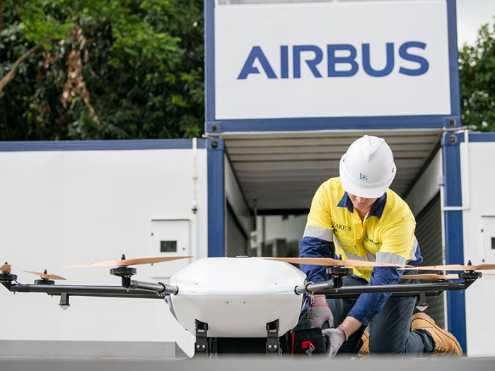Wilhelmsen teams up with Airbus on drone delivery at Singapore Port