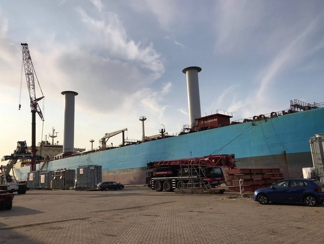 Maersk product tanker fitted with rotor sails