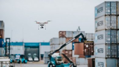 Photo of APM Terminals gives a view of how drones are changing port operations