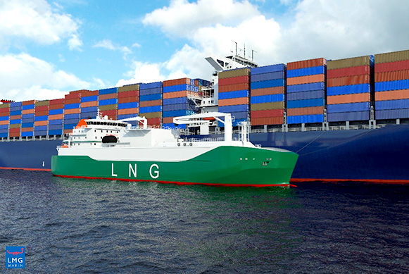 Sinanju and MOL sign up for Singaporean LNG bunker ship
