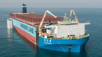 Photo of Maersk Honam rechristened and ready to sail