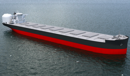 Kawasaki Heavy Industry unveils LNG-powered bulker design