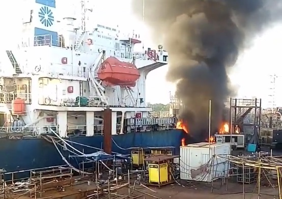 Chemical tanker explosion at Indonesian yard injures two
