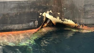 Photo of Likely bunker spill detected from Bahri VLCC attacked off Fujairah