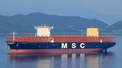 Photo of World's largest boxship featuring 24 rows across is delivered
