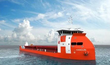 Hansun Shipping progresses with electric-powered bulker project