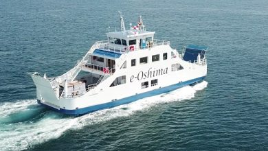 Photo of Oshima delivers Japan's first battery-powered ship
