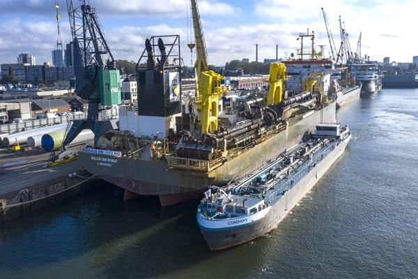 Boskalis switches dredger to 100% biofuel