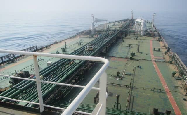 Holed Iranian tanker leaves oily slick across the Red Sea