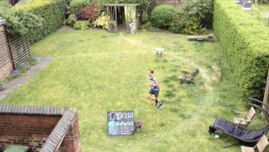 Photo of Maersk man completes 'London Marathon' in his garden for Seafarers UK