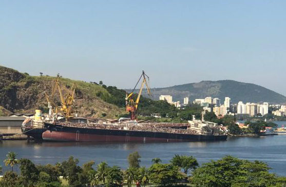 Near complete Brazilian tanker newbuild sinks at pier