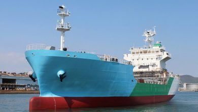 Photo of Japan's first LNG bunkering vessel launched