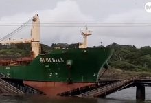 Photo of Bulk carrier takes out Panamanian rail bridge