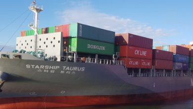 Photo of Namsung Shipping orders feeder boxship pair at Dae Sun