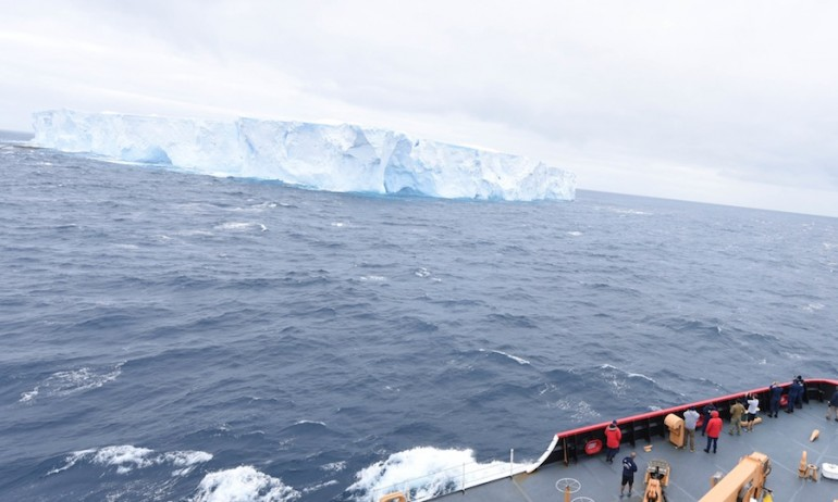 Giant Antarctic iceberg poses hazard to shipping