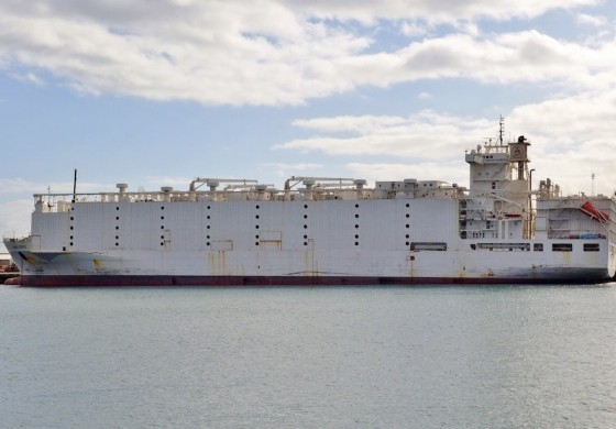 Fire strikes another livestock carrier