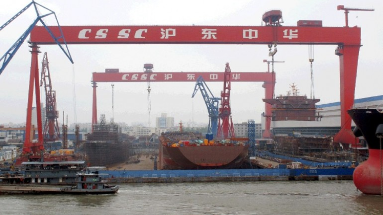 Chinese shipyards suffer huge drop in new orders